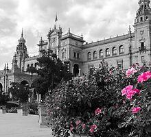 Plaza de Espana, Seville, colorsplash by Andrea Mazzocchetti