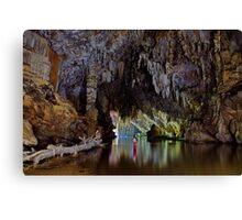 Lod Cave river tunnel, Thailand Canvas Print
