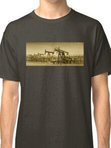 Oil pumps on a oil field. Classic T-Shirt