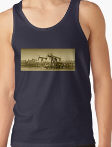 Oil pumps on a oil field. Tank Top