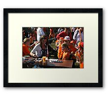 Yet another orange day........ Framed Print