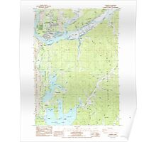 USGS Topo Map Oregon Florence 279902 1984 24000 Poster
