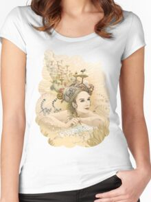 Animal princess Women's Fitted Scoop T-Shirt