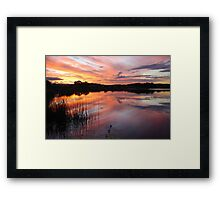 End of Day on Lake Kimberley Framed Print