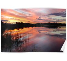 End of Day on Lake Kimberley Poster