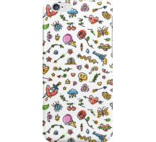 Colorful Funny Old School Tattoo Pattern iPhone Case/Skin