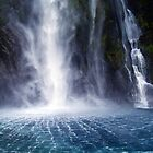 Waterfall:Milford Sound by Lara Bakes-Denman
