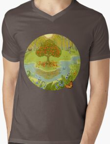 Magic forest Mens V-Neck T-Shirt