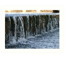 Waterfall overflow Art Print