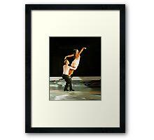 ice skating (dan and hayley) Framed Print