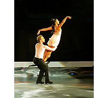 ice skating (dan and hayley) Photographic Print