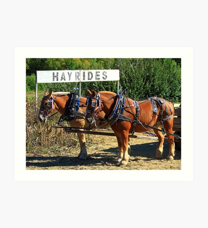 The Hayride Boys Art Print