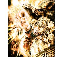 Ssj3 Dragon fist realistic Photographic Print