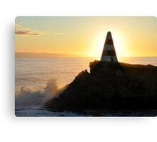 Obelisk Beach Sunset Canvas Print