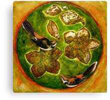 Green Collagraph 1 Canvas Print