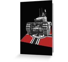 Chuchill tank Winston Churchill Greeting Card