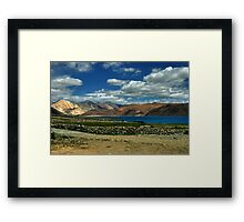 Evening colors - Pangong Lake Framed Print