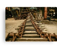 Abandoned Factory Equipment Canvas Print