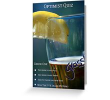 Optimist Quiz Greeting Card