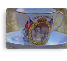 """""""Tea with the Queen anyone .....?"""" Canvas Print"""