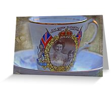 """Tea with the Queen anyone .....?"" Greeting Card"