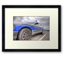 Boston Police Cruiser Framed Print