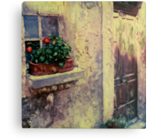 Flower Box Bonnieux, France Metal Print