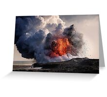 Kilauea Volcano at Kalapana 8 Greeting Card
