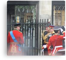 PRINCE WILLIAM AND PRINCE HARRY GOING IN TO THE ABBEY Metal Print