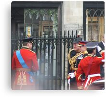 PRINCE WILLIAM AND PRINCE HARRY GOING IN TO THE ABBEY Canvas Print