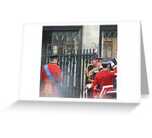 PRINCE WILLIAM AND PRINCE HARRY GOING IN TO THE ABBEY Greeting Card