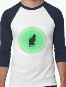 Cat Pattern Men's Baseball ¾ T-Shirt