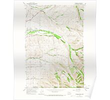 USGS Topo Map Washington Buroker 240286 1966 24000 Poster