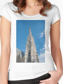 Vienna Austria St. Stephen's Cathedral (Stephansdom) Women's Fitted Scoop T-Shirt