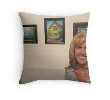 """Chemers Gallery """"Scenes of Tustin"""" Art Exhibtion Throw Pillow"""