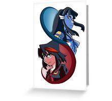 Kill la Kill - Red and Blue Oni Greeting Card