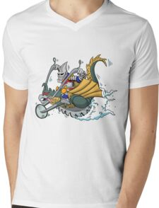 Jettin Jaguar and his Way Gone Gigancycle Mens V-Neck T-Shirt
