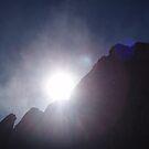 Sun Behind Rocks by rupertswoolies