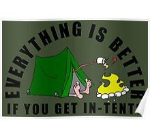 Get In-Tents. Poster