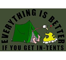 Get In-Tents. Photographic Print