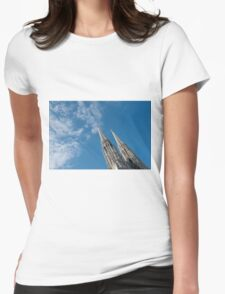 Vienna Austria Spires of the neo-Gothic Votivkirche (Votive Church) Womens Fitted T-Shirt