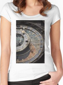 Astronomical Clock Women's Fitted Scoop T-Shirt
