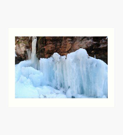 Icy sculptures Art Print