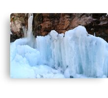 Icy sculptures Canvas Print