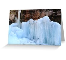 Icy sculptures Greeting Card