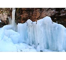 Icy sculptures Photographic Print