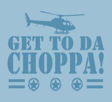 Get-To-Da-Choppa-T-Shirt-Funny-Predator-Arnie-Army-Style Kids Clothes