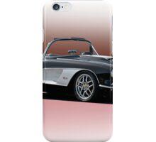 1958 Chevrolet Corvette 'Retro' Convertible iPhone Case/Skin