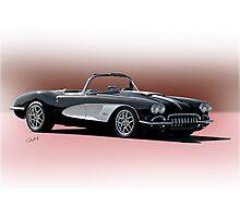 1958 Chevrolet Corvette 'Retro' Convertible Photographic Print