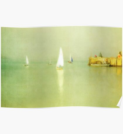 Sailing Boats Margate Harbour II Poster